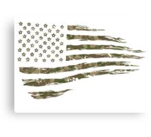 Camo Flag 1  Canvas Print