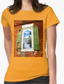 Window with History Womens Fitted T-Shirt