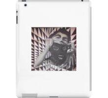 Cork Street art ski mask checkerboard iPad Case/Skin