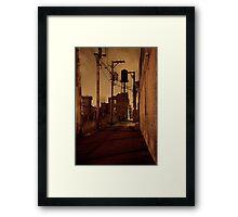 STREET SMART (WATER TOWER ALLEY) Framed Print