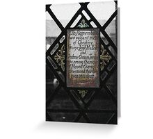 Window of Remeberence Greeting Card