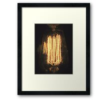 A Dreamy Lightbulb. Framed Print