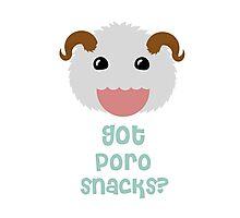 League of legends Poro : Got poro snacks? Photographic Print
