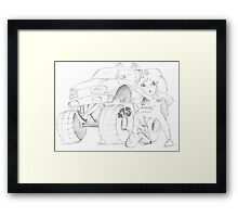 PENCIL ART - Our Credit Score And How To Fix It Framed Print