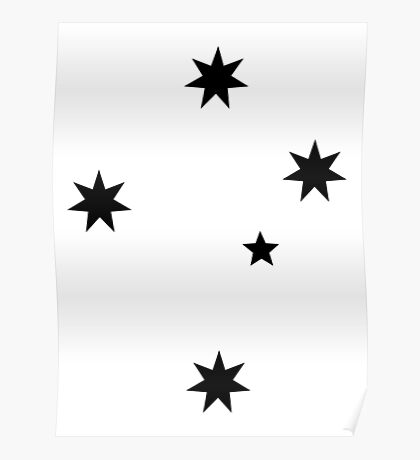 Southern Cross - Black ink Poster