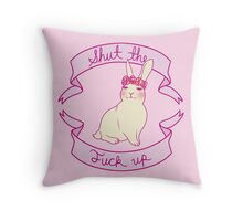 Lovely STFU Bunny Throw Pillow
