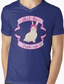 Lovely STFU Bunny Mens V-Neck T-Shirt