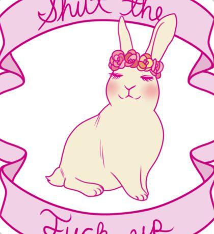 Lovely STFU Bunny Sticker
