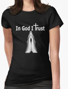 In God I Trust (for dark colors) Womens Fitted T-Shirt