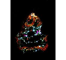 Christmas tree in Lyon, France Photographic Print