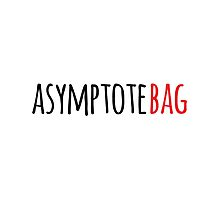 Funny 'asymptote bag' math Geek's Tote Bag by Albany Retro