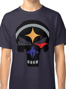 Pittsburgh Steelers Punisher Logo Team Colors Classic T-Shirt