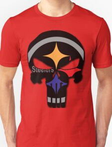 Pittsburgh Steelers Punisher Logo Team Colors T-Shirt