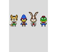 Star Fox Team Mini Pixels Photographic Print
