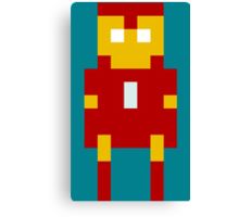 8-Bit Iron Man Canvas Print
