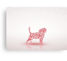 Puppy Christmas Canvas Print