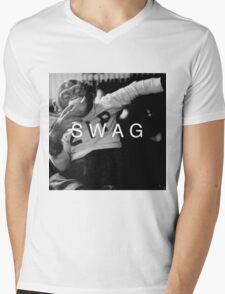 Swag Monkey Mens V-Neck T-Shirt