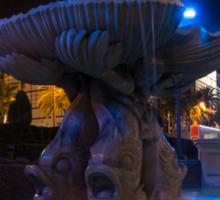 It's Not Rome - Triton Fountain Las Vegas at Night Sticker