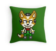 Fox McCloud - Star Fox Team Mini Pixel Throw Pillow