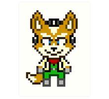 Fox McCloud - Star Fox Team Mini Pixel Art Print
