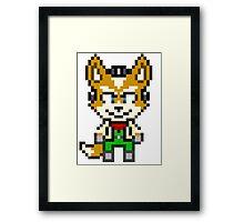 Fox McCloud - Star Fox Team Mini Pixel Framed Print