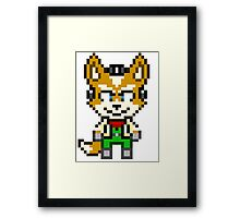 Fox McCloud - Star Fox Team Mini Pixel Framed Print