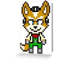 Fox McCloud - Star Fox Team Mini Pixel Greeting Card