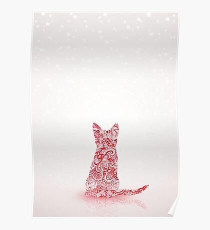 Kitten Christmas Poster