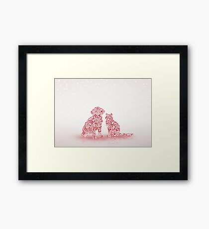 Pets Christmas Framed Print