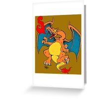 Japanese folklore Charizard Greeting Card