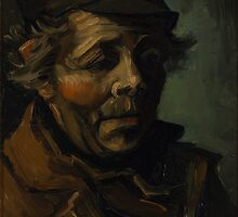 Vincent van Gogh - Head of a peasant with cap - 1884 by forthwith