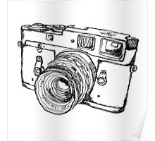 Rangefinder Style Camera Drawing Poster