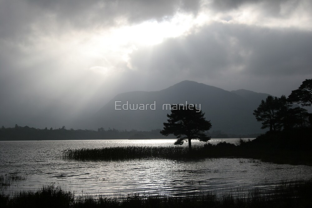 Silver skys over Kerry lake by Edward  manley