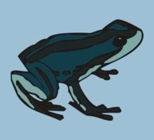 Aqua Blue Frog by Ryan Houston