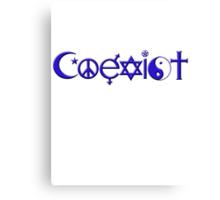 COEXIST blue Canvas Print