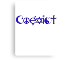 COEXIST blue Canvas Print