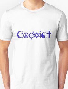COEXIST blue Unisex T-Shirt
