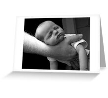 In Daddy's hands 2 Greeting Card