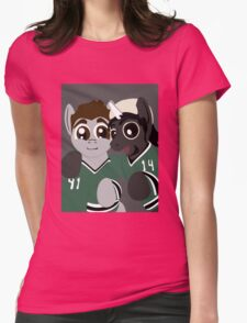 Pony Seguin and Bennicorn selfie Womens Fitted T-Shirt