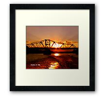 SUNSET ON THE RED Framed Print