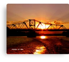 SUNSET ON THE RED Canvas Print