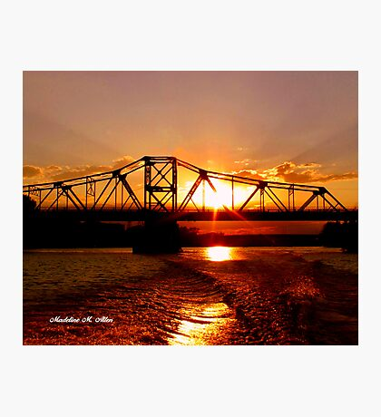 SUNSET ON THE RED Photographic Print