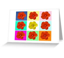 Flower Warhol Greeting Card
