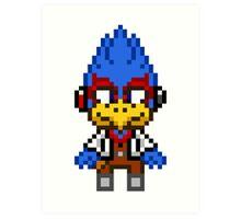 Falco Lombardi - Star Fox Team Mini Pixel Art Print