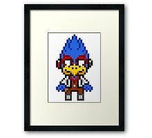 Falco Lombardi - Star Fox Team Mini Pixel Framed Print