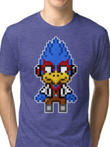 Falco Lombardi - Star Fox Team Mini Pixel Tri-blend T-Shirt