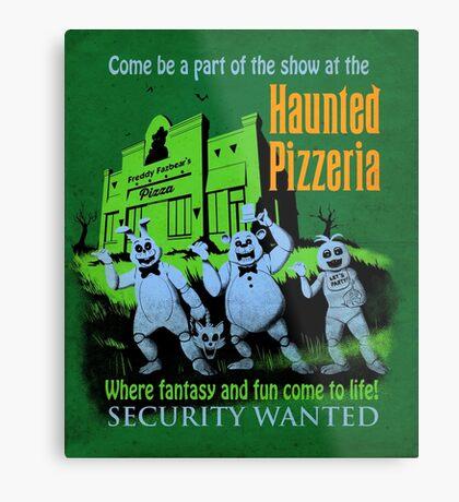 The Haunted Pizzeria Metal Print