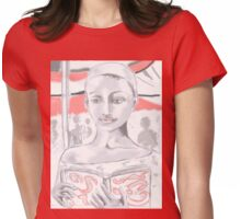 girl with book .Africa Womens Fitted T-Shirt