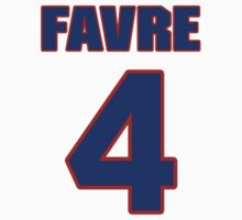 National football player Brett Favre jersey 4 by imsport
