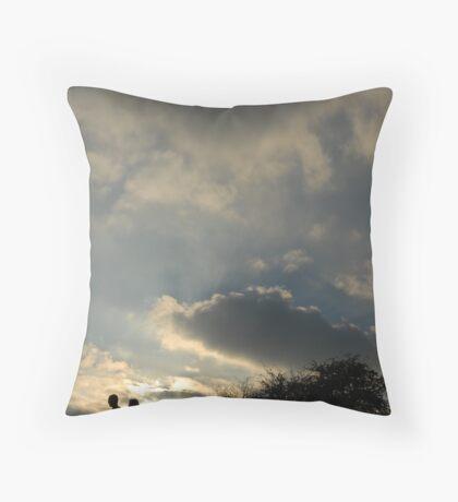 primrose silhouettes Throw Pillow